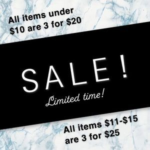 SALE!! 🌸 3/$20 🌸 & 🌼 3/$25 🌼